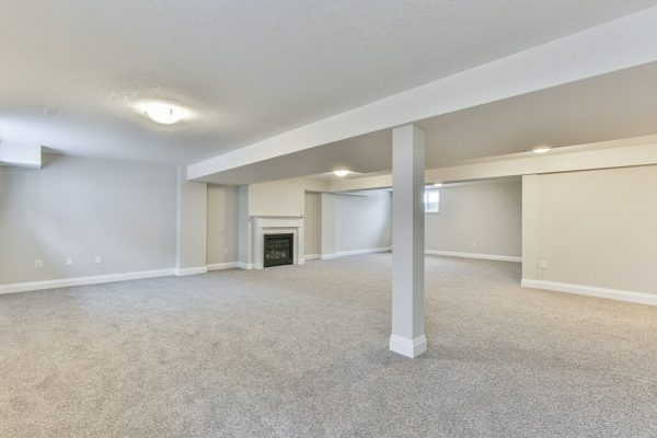Audrey Finished Basement with Fireplace